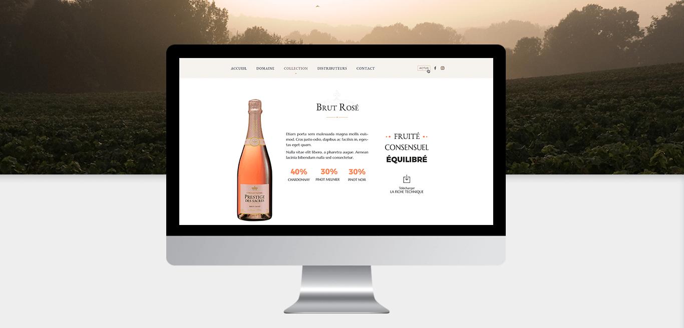 Maison de champagne Prestige Des Sacres